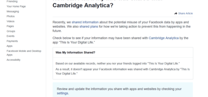 Does Cambridge Analytica Have Your Information?